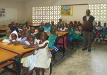 A class at one of the primary schools