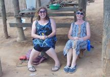 With fellow volunteer Sue