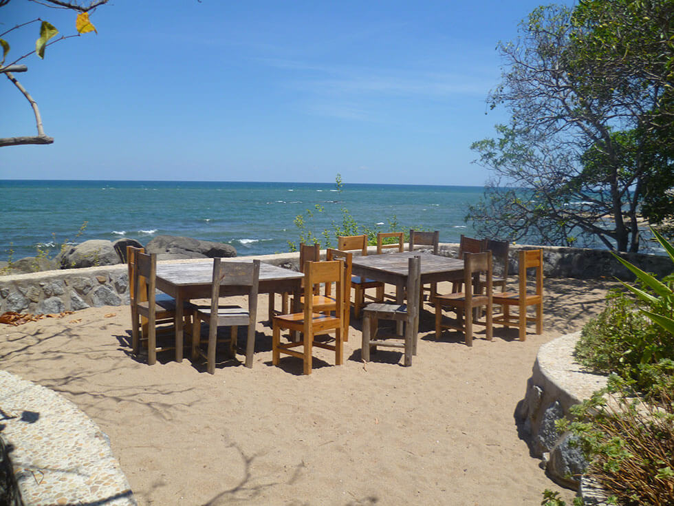 Mwaya Beach dinner deck