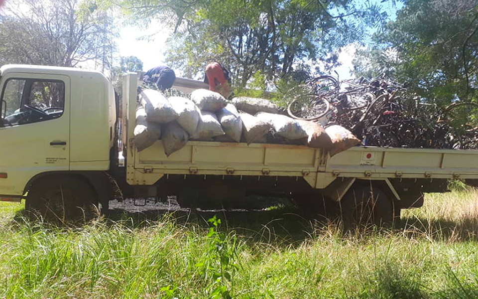 A further 60 bags of charcoal and 22 bikes confiscated