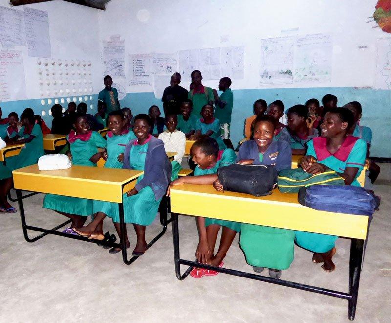 New-desks-at-Mazembe-primary