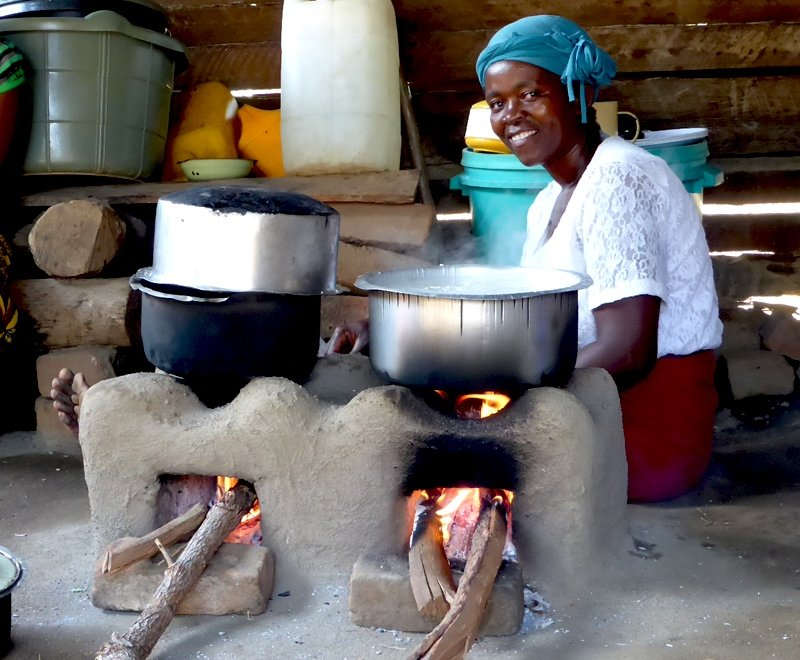 Safe, fuel efficient cookstove, Malawi, Africa