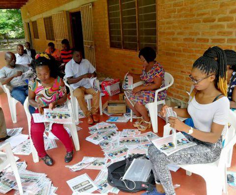 Leaflet organising coronavirus campaign