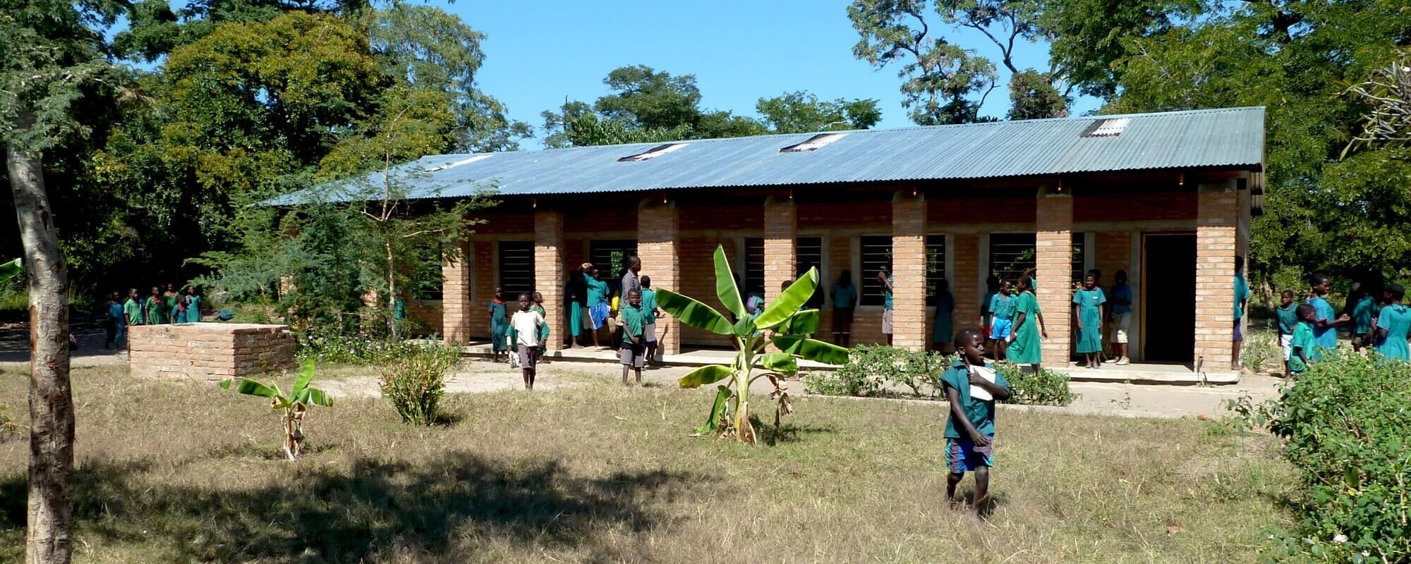 A primary school classroom in Malawi Africa