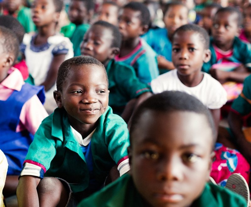 As an education charity in Africa we aim to reduce large class sizes