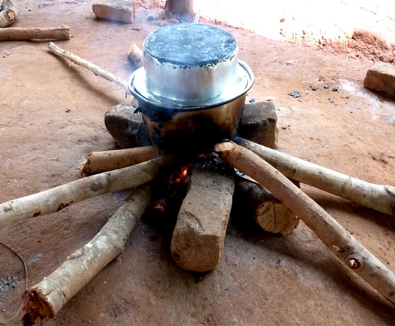 Traditional Three Stone Fire in Malawi