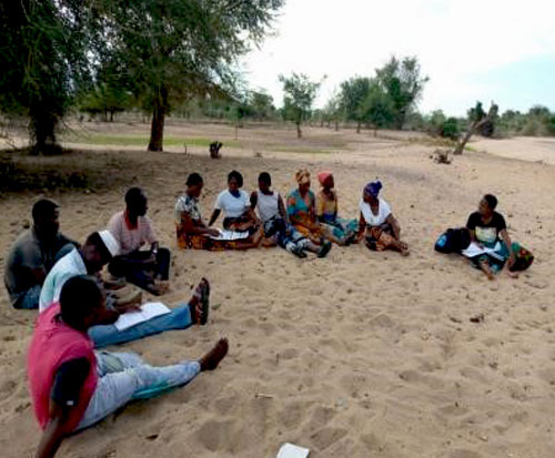 Ripple Africa fish conservation team train beach village committees on a beach in Malawi