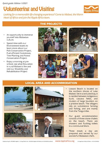 Volunteering and Visiting guide