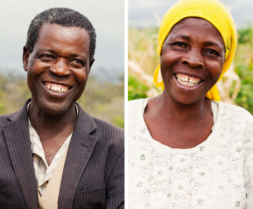 A couple smile in Malawi