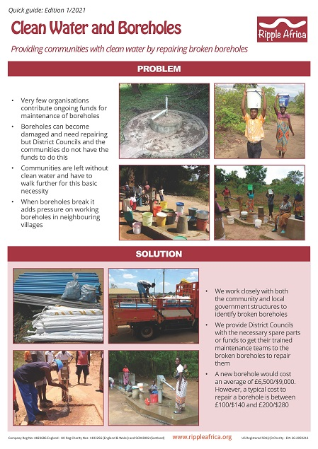 Quick Guide Clean Water Boreholes
