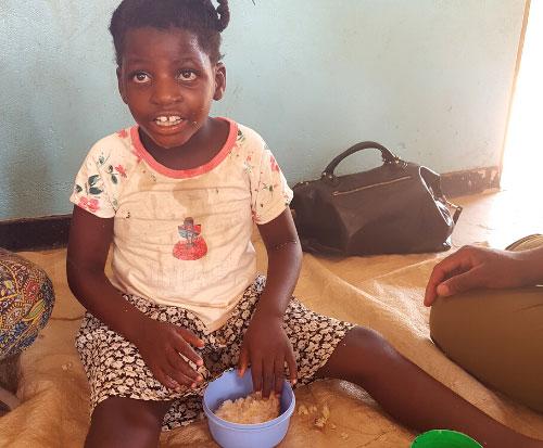 Mphatso at pre school in Malawi