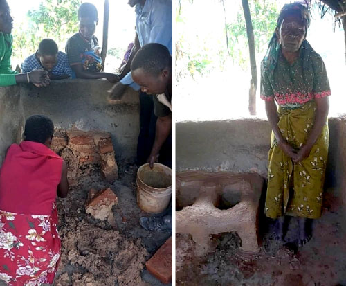 Sharing guides to build cookstoves