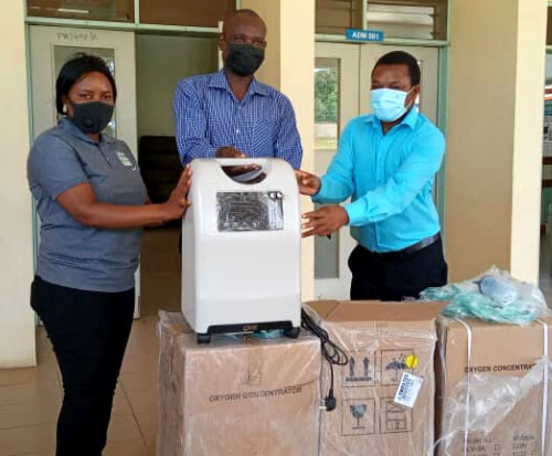 Oxygen concentrators donated to a hospital in Malawi for the coronavirus pandemic