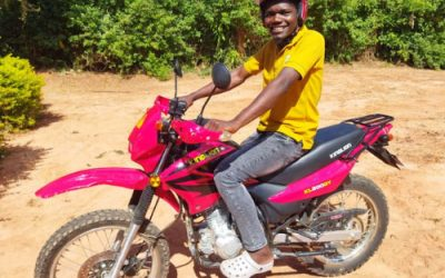 Swapping minibuses for motorbikes