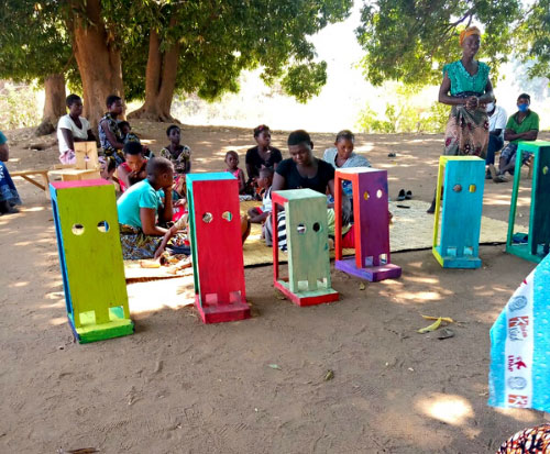 Disabled children benefit from wooden standing frames in Malawi