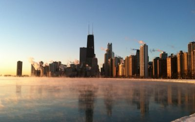 Icy Swims for RIPPLE Africa in Lake Michigan, Chicago